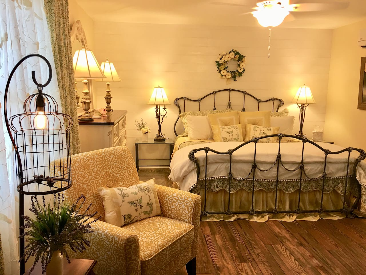 """The Haven"" at The Crane's Nest Farmhouse features a king size bed, sitting area and en-suite and is fully appointed for you convenience, comfort and enjoyment."