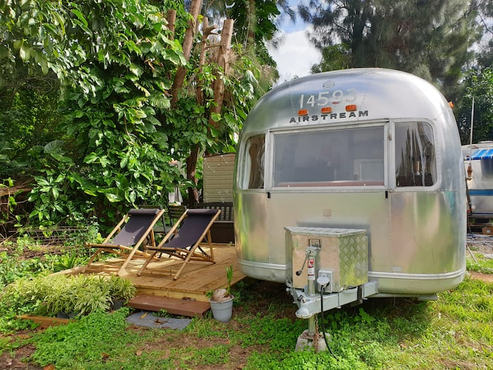 Airstream glamping in nature