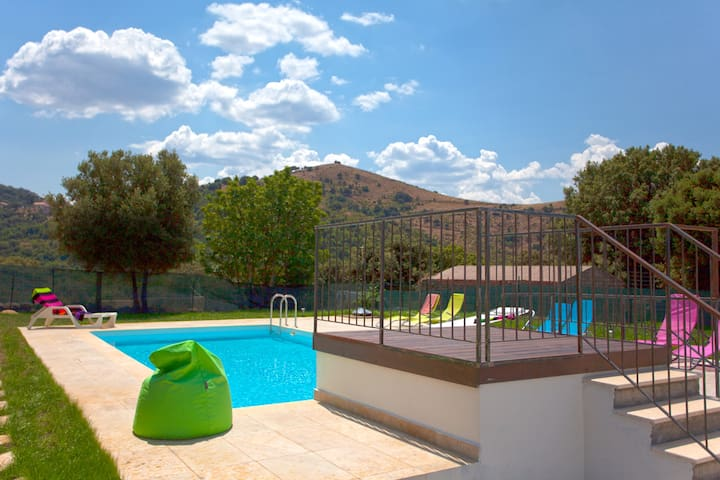 Villa with 3 bedrooms in Pietralba, with wonderful mountain view, private pool, enclosed garden - 15 km from the beach