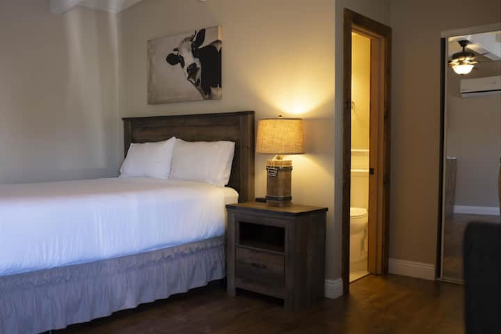 Deluxe renovated room with queen bed