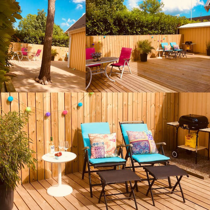 Private garden/patio - perfect for a nice barbecue (bbq-equipment incl)  or just for relaxing after a day at the beach