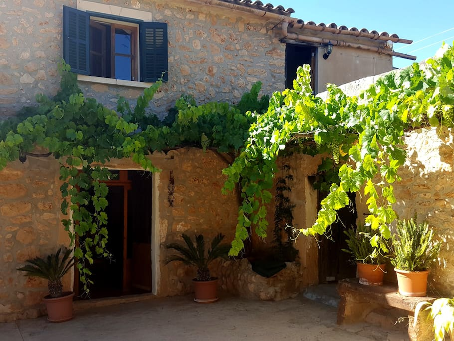 Our home is a renovated mallorcan finca farm house with beautiful old feature.