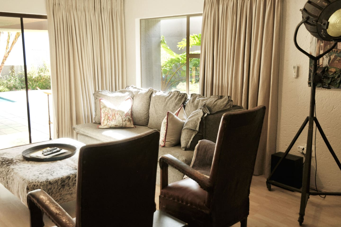 Besides the large TV in your rooms, feel free you enjoy our TV lounge.