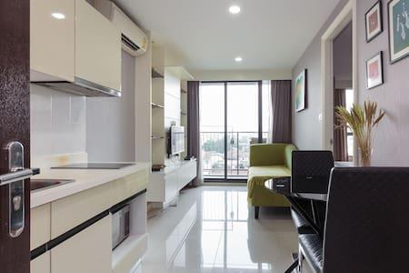 24小时入住!bts On Nut站步行1分钟 豪华舒适双人房 - พระโขนงเหนือ - Appartement