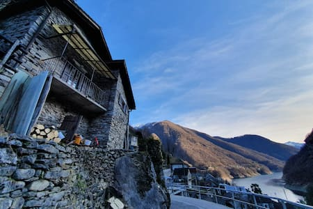 Valle Verzasca, Vogorno | Home with  lake view