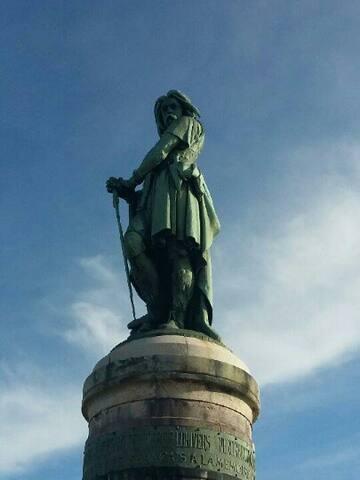 Ballade sur le plateau vers statue de Vercingétorix