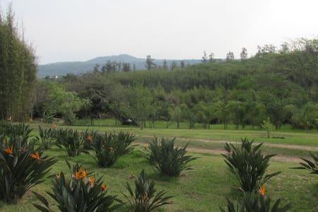 Casa de campo jardines, lago, bosque bambu, calma - 哈拉帕