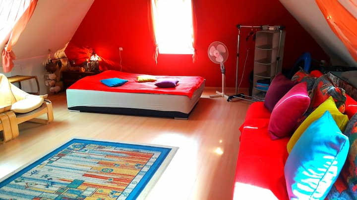studio / loft apartment near the city center