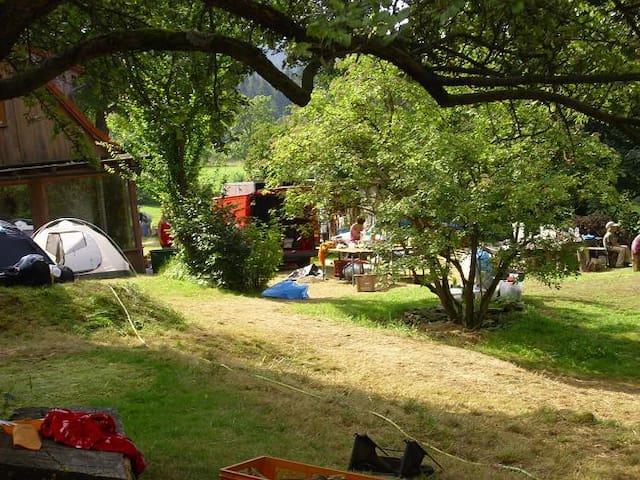 Zelten oder Campen  in der Zelt-Oase Aueralm