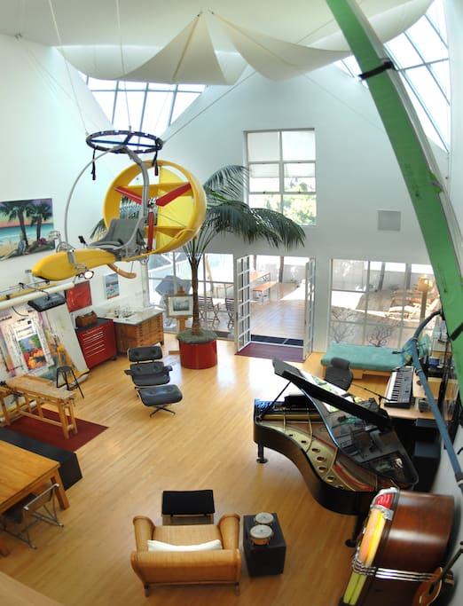 View of Large Gallery Art and Music Studio