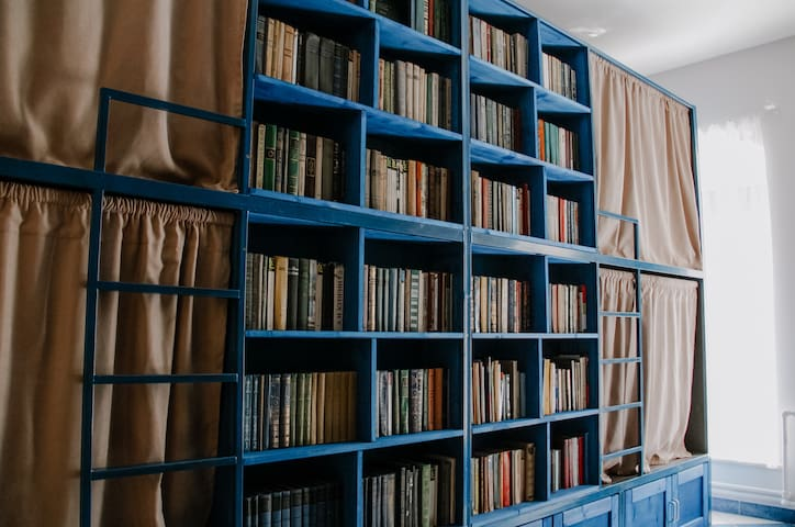 BookCase Eco-Hostel in the heart of Saint Petersburg 8-Bed Mixed Dorm