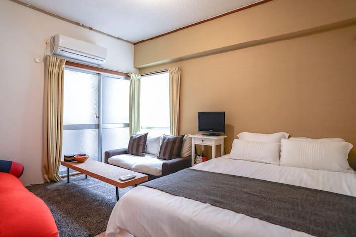ShinOsaka 5min! Spacious & Relaxing - 大阪市 - Apartemen