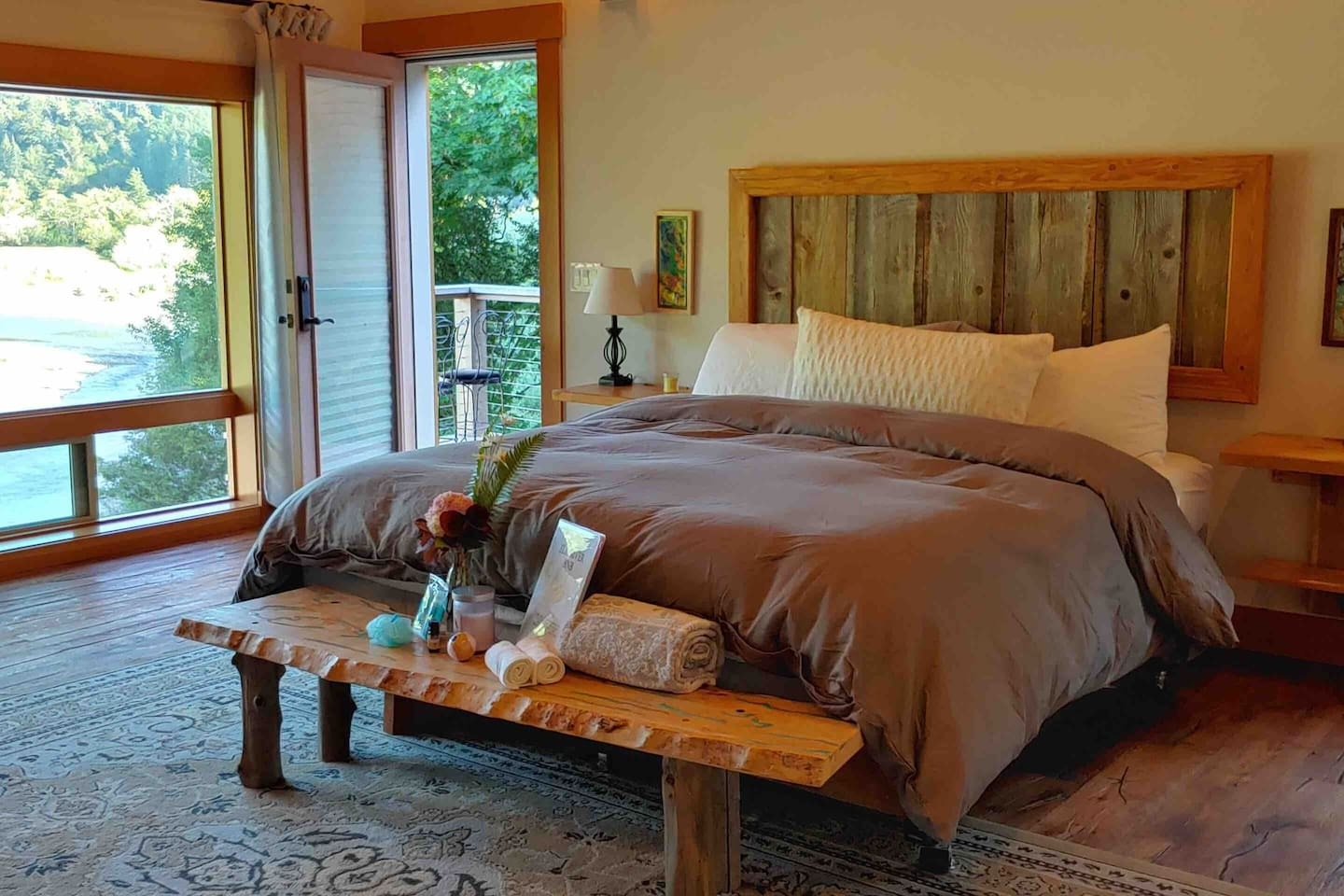 copper room bed