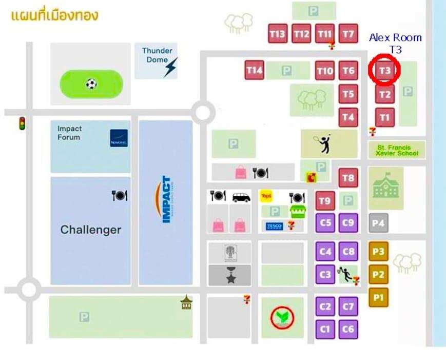 Alex Room map of Impact Arena
