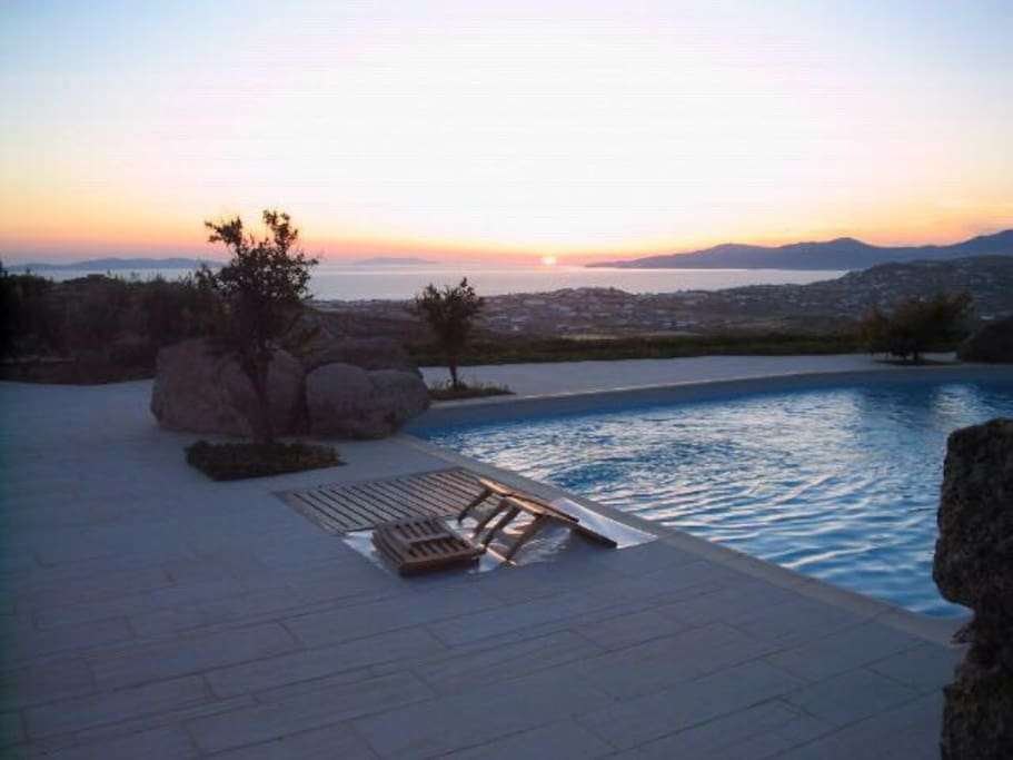 Pool View & Sunset