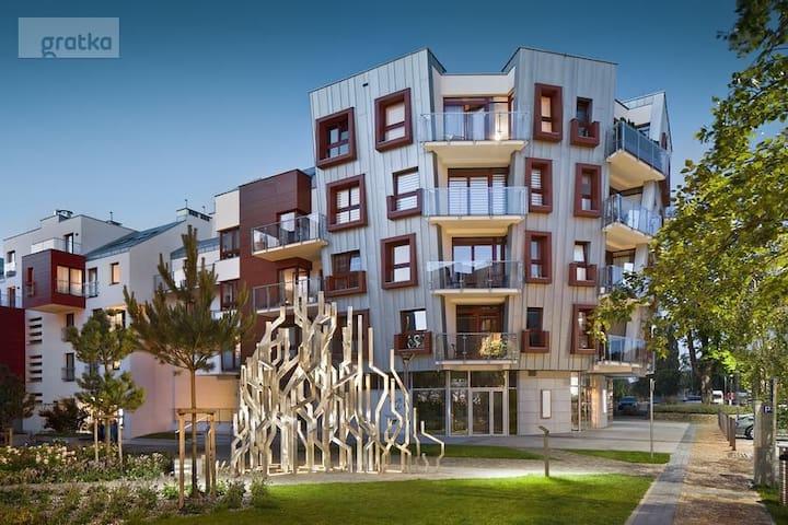 Apartment Gdansk garnizon many restaurants around