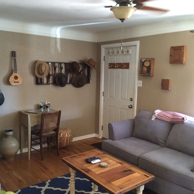The living area is a great place to hang out, watch Netflix, or relax!