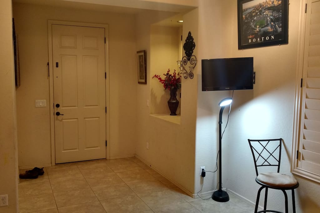 Private Living room for guest with LCD TV