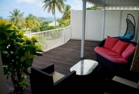 2 chbres clim,vue mer, accès plage, Villa Faustine