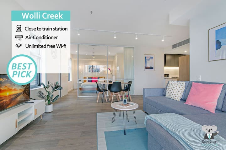 KOZYGURU   Wolli Creek   Kozy 1 Bed APT   Sydney Airport & Sydney CBD