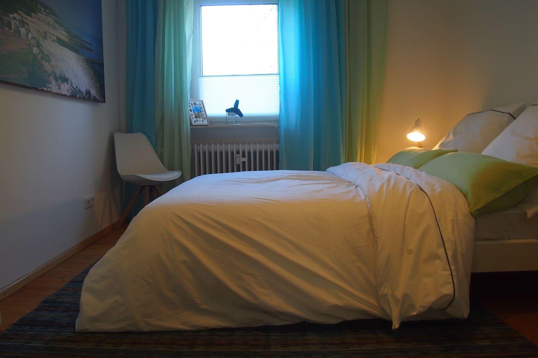 The Beach Box's cosy bed