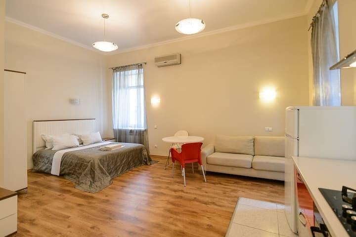 Spaсious studio apartment with balcony ID168