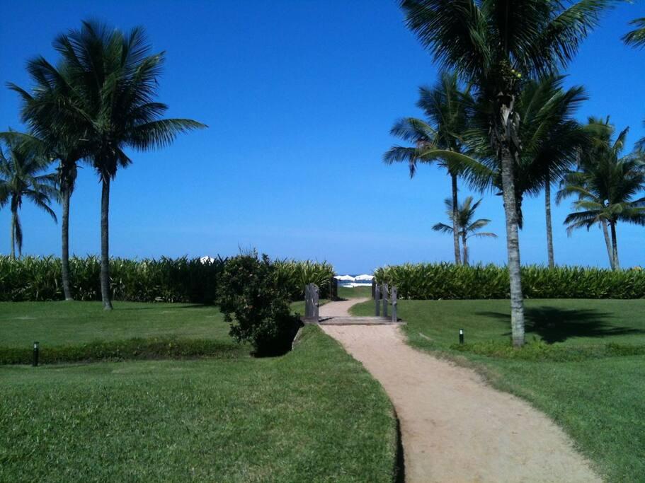 Caminho privativo  para a praia