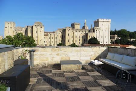 Intra-muros Terrasse entièrement privée Vue unique - Avignon