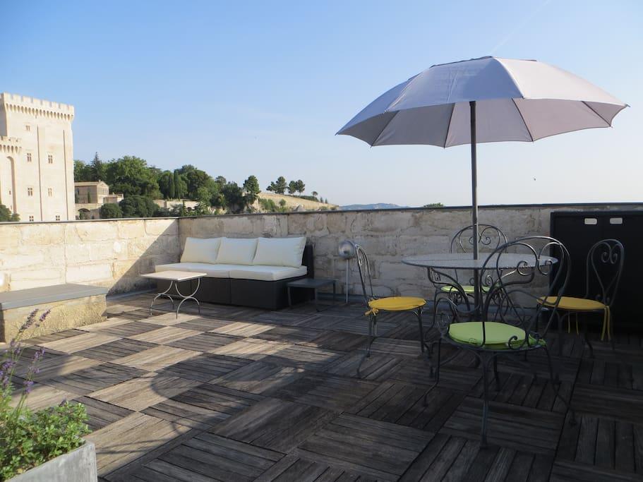 terrasse 30 m² sur le toit