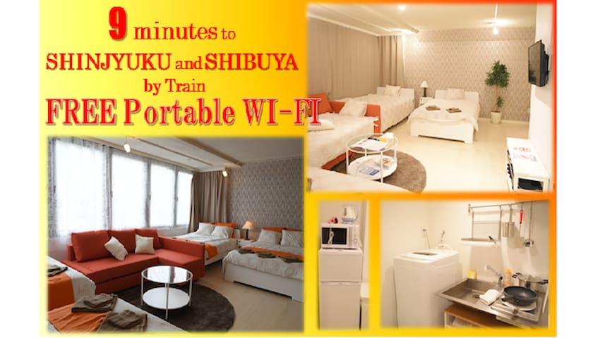 #5 For 10 guests! Akasaka:5min/Roppongi:7min - Minato-ku - Lägenhet
