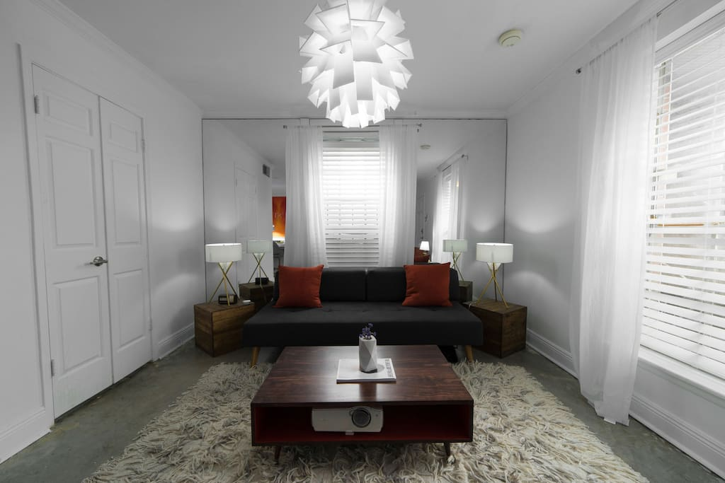 Relax in the living room with designer & hand made local furniture