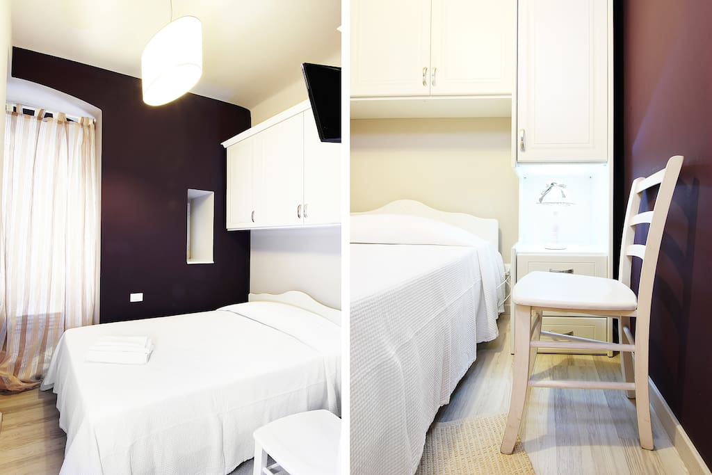 ask to book the aubergine bedroom for two people