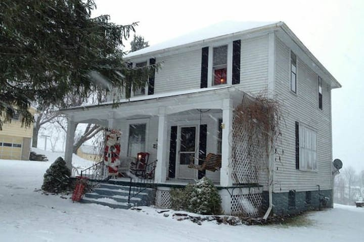 The house during Winter.