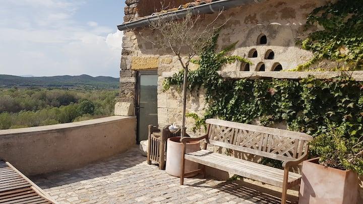 Chambre dans château médiéval