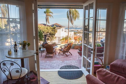 Bay View/City Lights, Private Deck in Point Loma!