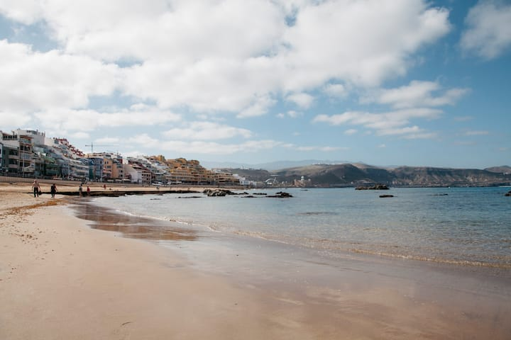 Bonito Ap estudio cerca de  playa de Las Canteras