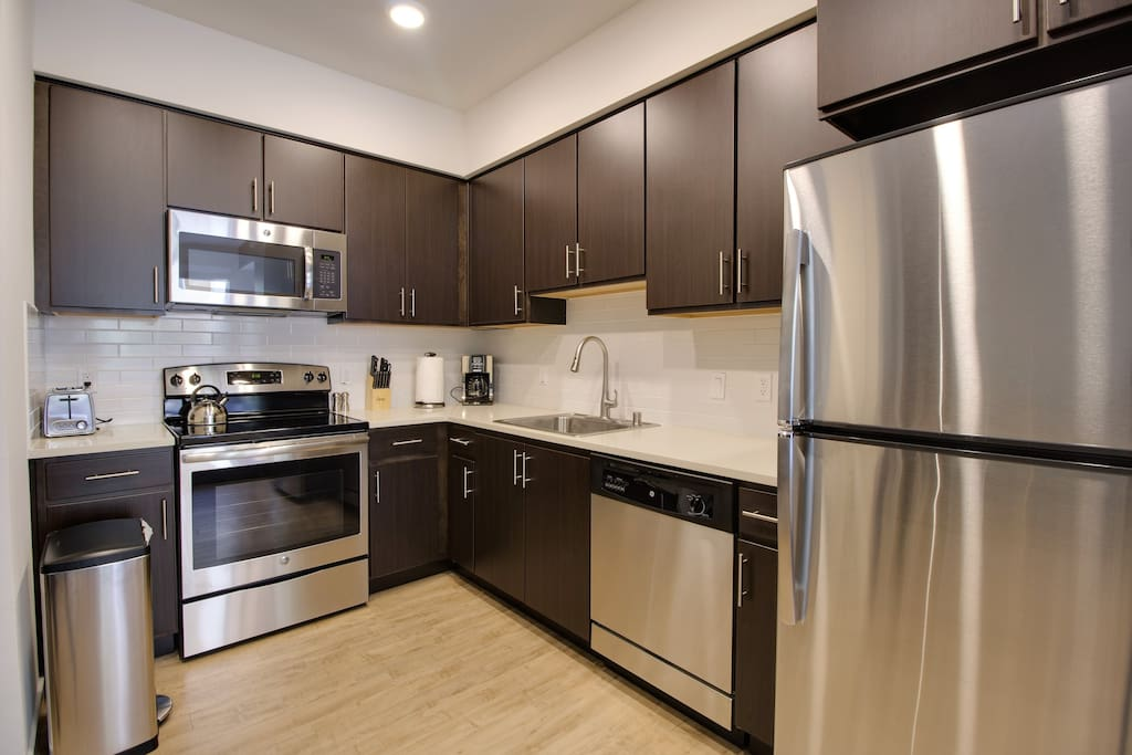 Fully Equipped Kitchen with Basic Cooking/Dining Essentials