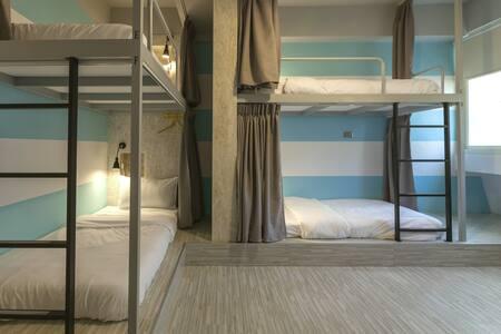 花蓮火車站北吉光6人混合房的1床/1 bed@Mixed Dorm-1A