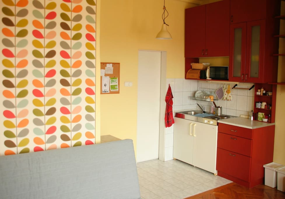 The kitchen is small but fully equipped