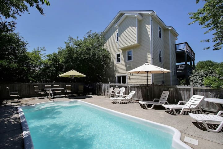 1622* Monkey Sea Monkey Dune* 7 min. walk to beach access* Solar Heated Pool* Screened In Porch