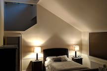 The guest suite, at night.