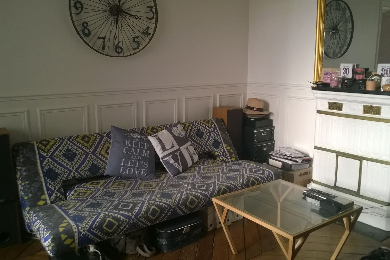 Canapé lit facile à déplier