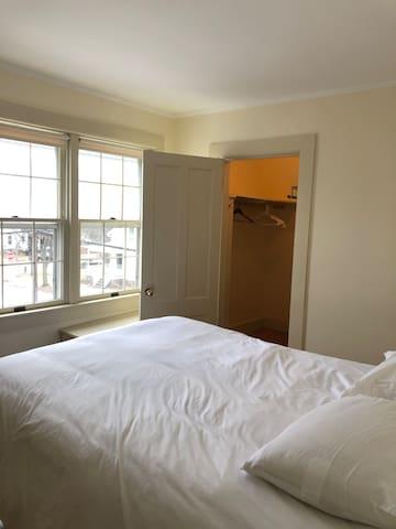 Third bedroom has largest walk-in closet and queen bed.