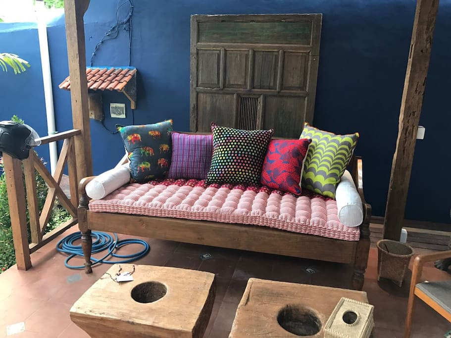 Relax on your sofa over looking the garden