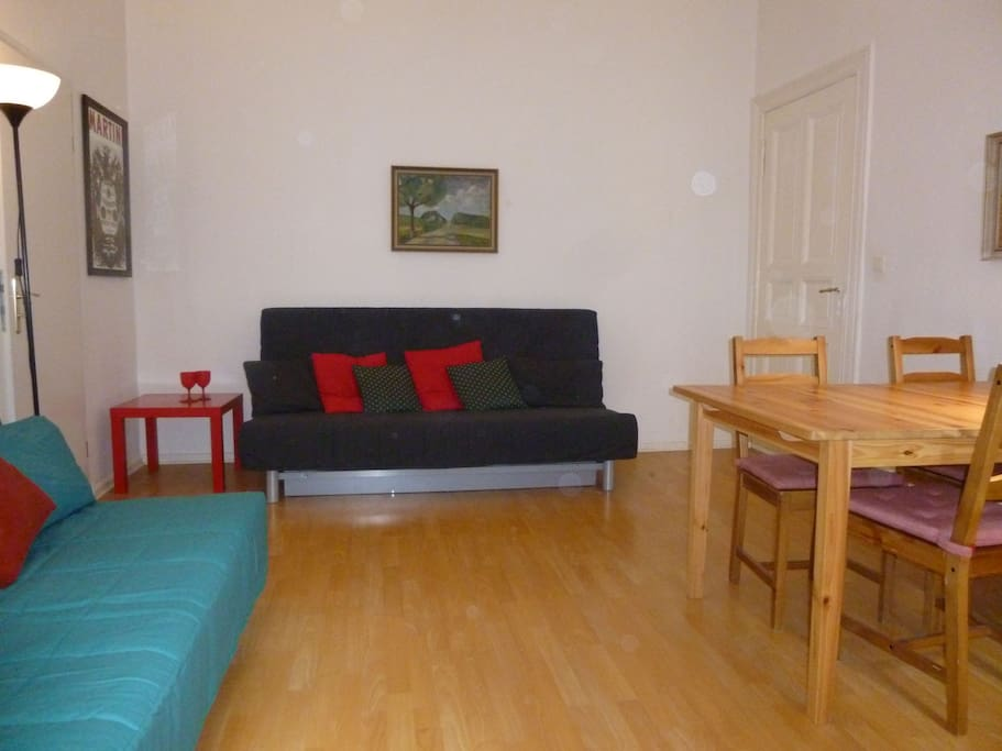 Two double bed sofas in the living room