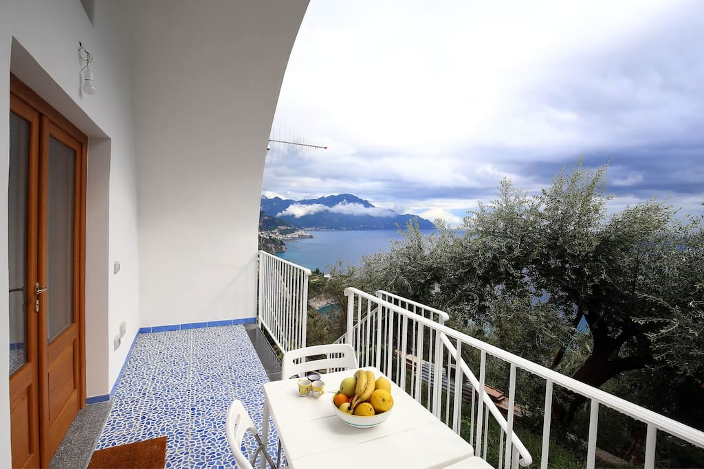 Amazing view on Amalfi Gulf from the terrace