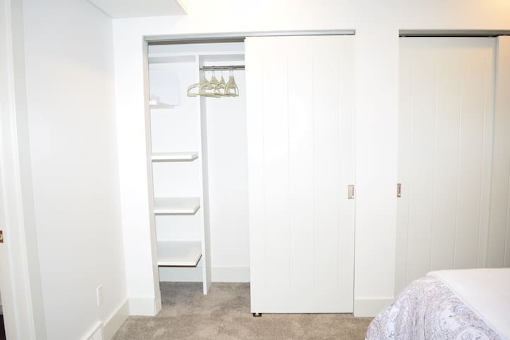 Tons of closet space in bedroom