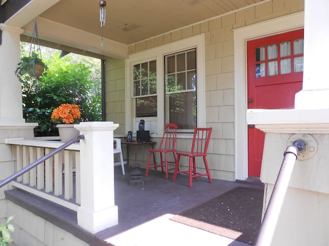 I had not really thought about the porch until a guest commented  how  he liked the porch we subsequently we spent the next