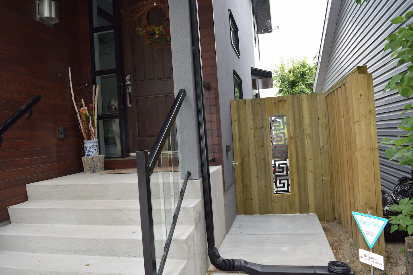 Private side entrance to suite.