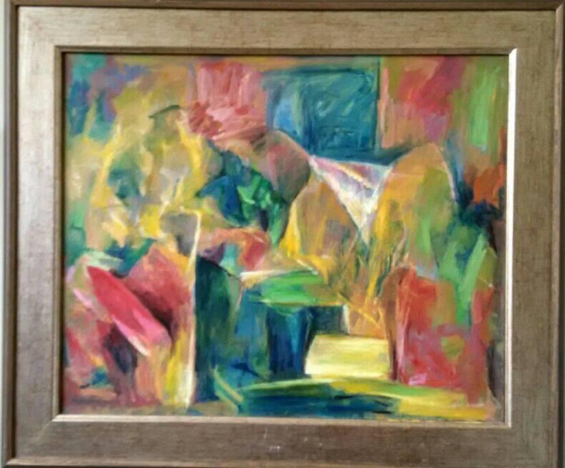 我的抽象藝術油畫作品